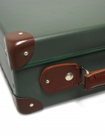 Original 13'' Globe Trotter mini utility green suitcase buy online