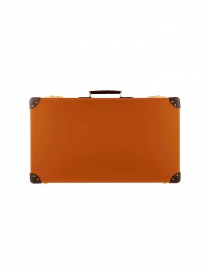 Travel bags online: Original 26'' Globe Trotter orange suitcase