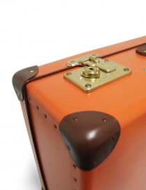 Original 26'' Globe Trotter orange suitcase