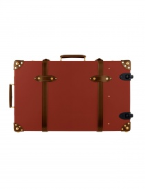 Centenary 30'' Globe Trotter red suitcase with wheels