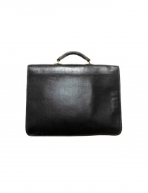 Il Bisonte Raffaello black leather briefcase price