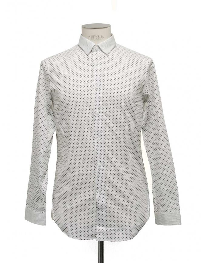 White shirt Cy Choi with blacks pois CA27502BWH01 mens shirts online shopping