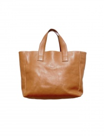 Ochre leather Il Bisonte shopper bag online