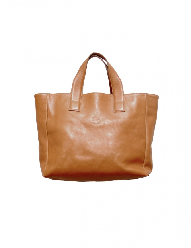 Borsa shopper Il Bisonte in pelle ocra 1 BISONTE borse online shopping