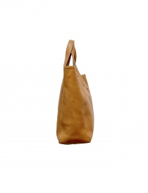 Ochre leather Il Bisonte shopper bag