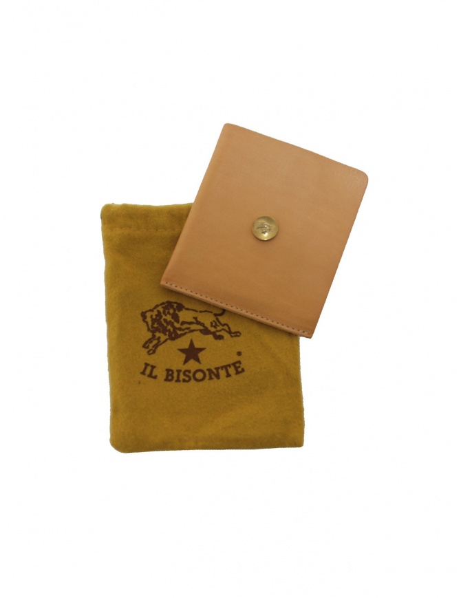 Light brown leather Il Bisonte wallet C0646 P NEUTRO wallets online shopping