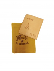 Light brown leather Il Bisonte wallet buy online