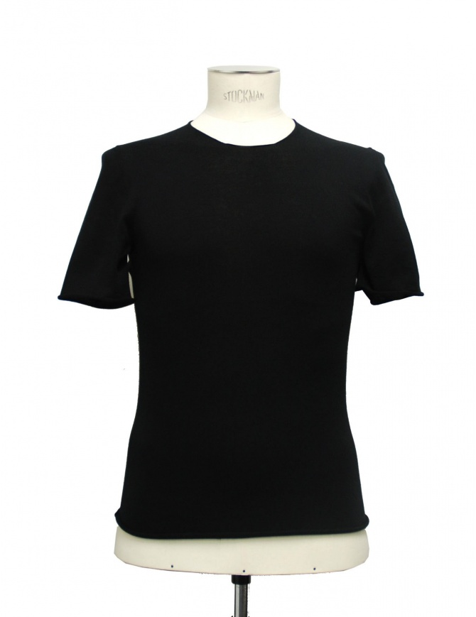 Black t-shirt Label Under Construction Primary 21YMTS117-CO mens t shirts online shopping