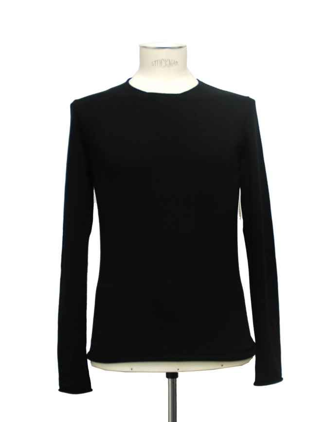 Black sweater Label Under Construction Primary 21YMTS23-CO1 mens knitwear online shopping