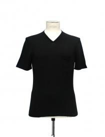 T-shirt Adriano Ragni Cotone Nero Scollo a V online