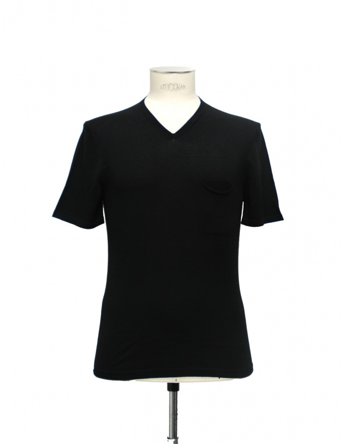 T-shirt Adriano Ragni Cotone Nero Scollo a V 21ARTS02 CO131 PK 48 t shirt uomo online shopping