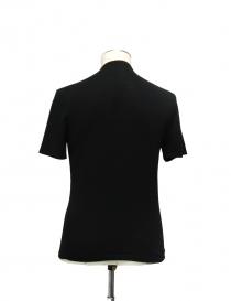 Adriano Ragni Black Cotton V-Neck T-shirt price