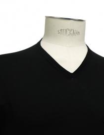 Adriano Ragni Black Cotton V-Neck T-shirt mens t shirts buy online