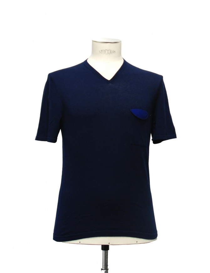 Adriano Ragni blue t-shirt 21ARTS02-CO1 mens t shirts online shopping
