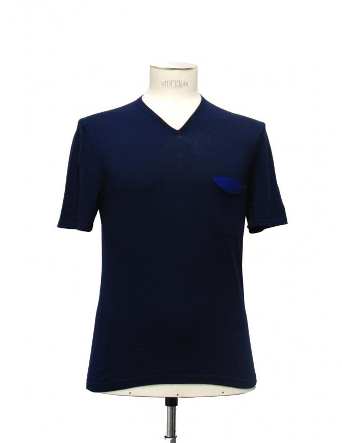 T-shirt Adriano Ragni colore blu 21ARTS02-CO1 t shirt uomo online shopping