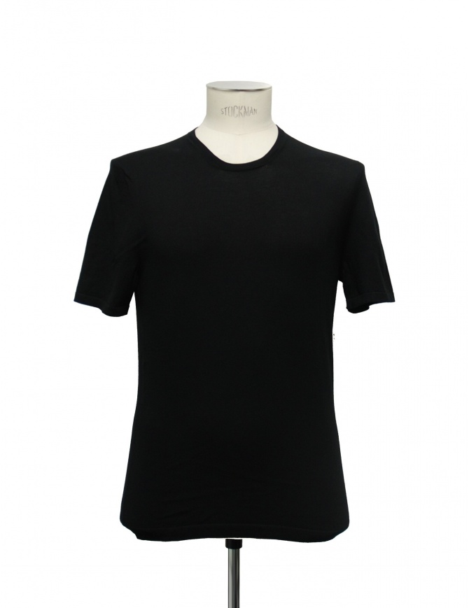 Adriano Ragni black t-shirt 21ARTS01-CO1 mens t shirts online shopping