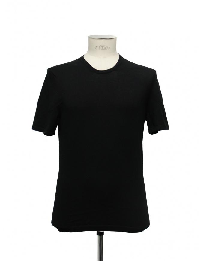 Adriano Ragni round neck black t-shirt 21ARTS01 CO131 SH 48-45 mens t shirts online shopping