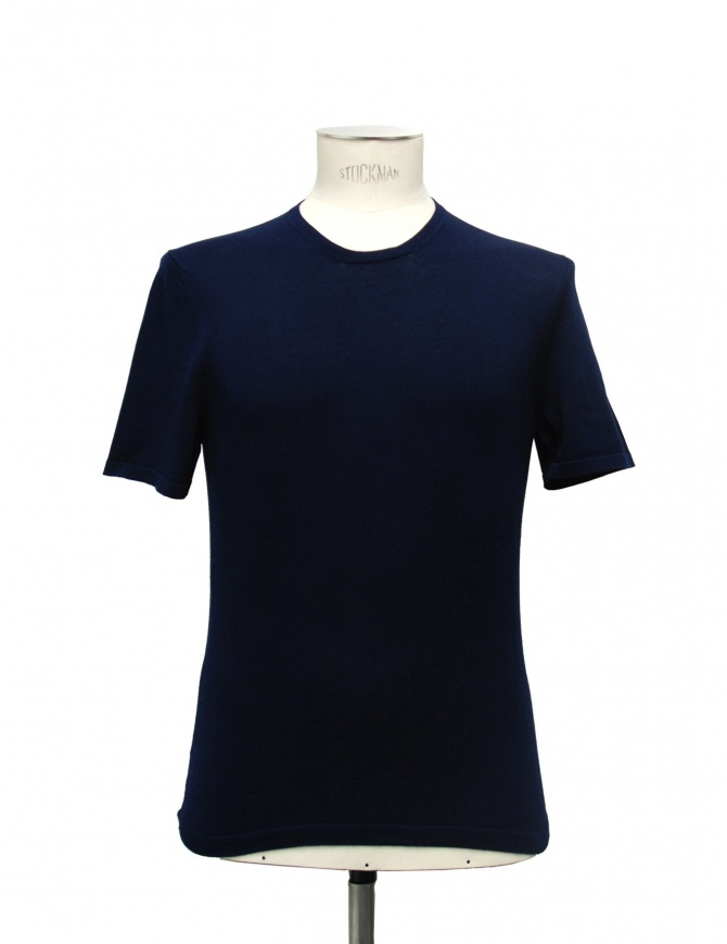 Adriano Ragni blue t-shirt 21ARTS01-CO1 mens t shirts online shopping