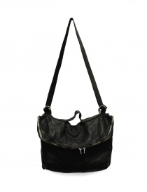 Bags online: Black leather Guidi M10 bag