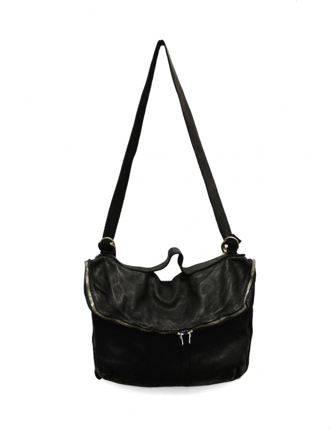 Black leather Guidi M10 bag M10 SOFT HORSE FULL GRAIN bags online shopping