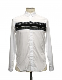 White shirt Cy Choi with black stripe online