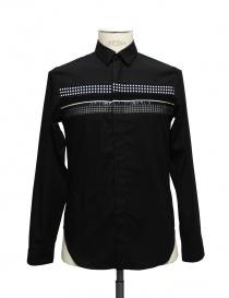 Black shirt Cy Choi with checked and polka dots band online