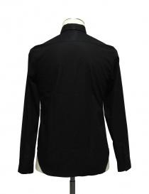 Camicia Cy Choi colore nero con fascia a quadri e pois