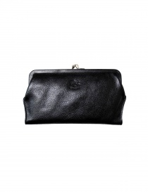 Black leather wallet Il Bisonte online