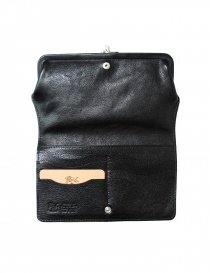 Black leather wallet Il Bisonte buy online