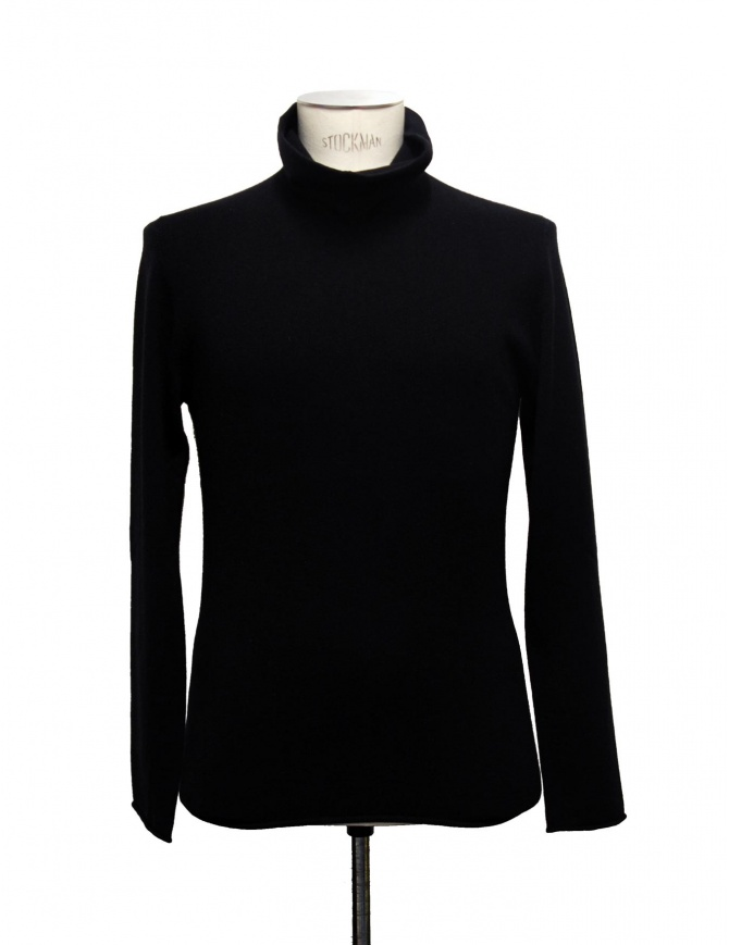 Label Under Construction black turtleneck sweater 22YMSW54 WA11 RG 22/8 mens knitwear online shopping