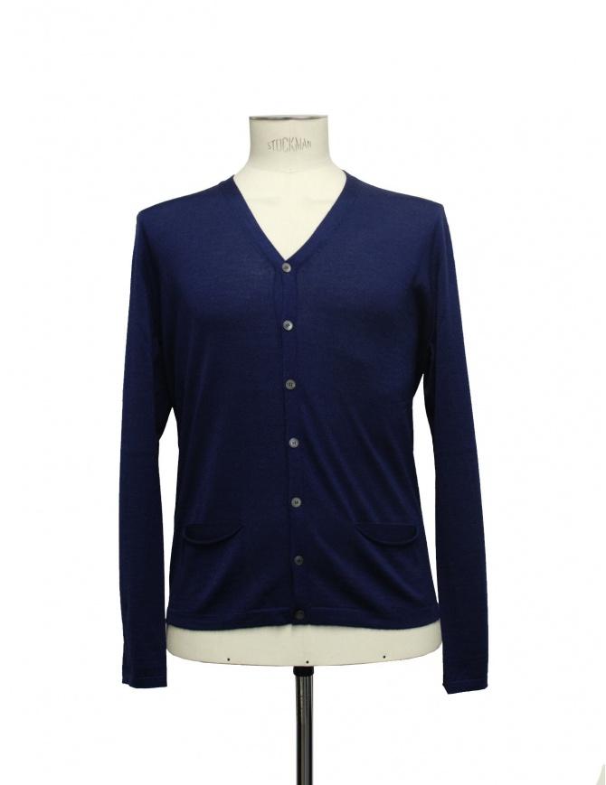 Adriano Ragni blue cardigan 22ARCR02 WS23 PC-PK BL02 mens cardigans online shopping