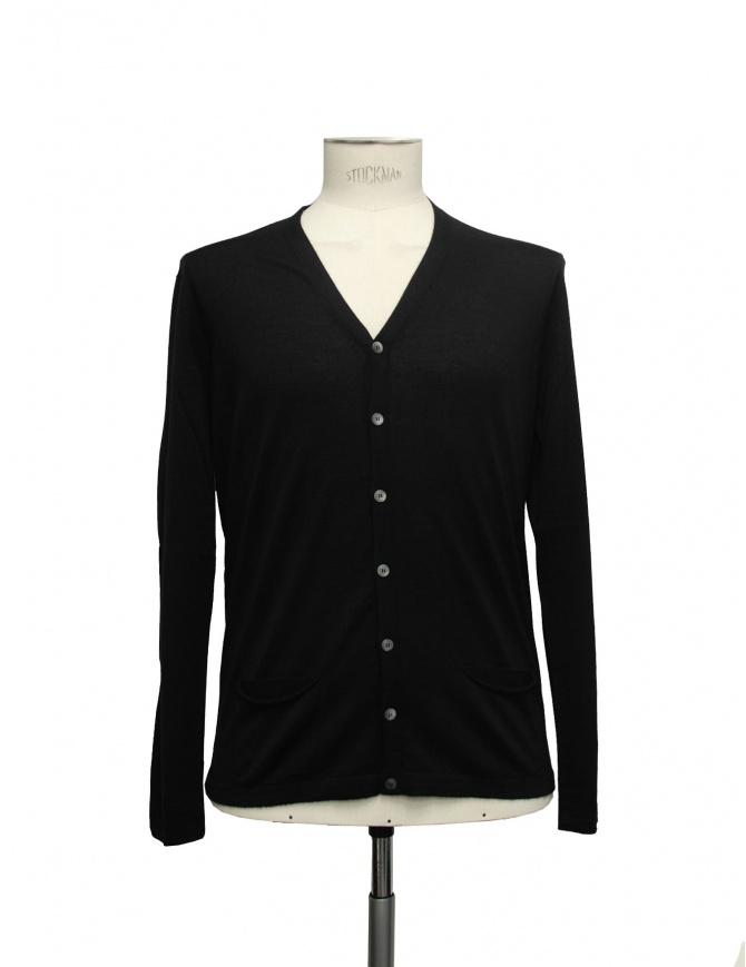 Adriano Ragni black cardigan 22ARCR02 WS23 PC-PK BK01 mens cardigans online shopping