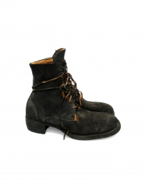 Dark brown leather ankle boots 795Z Guidi 795Z-1001T