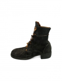 Dark brown leather ankle boots 795Z Guidi buy online