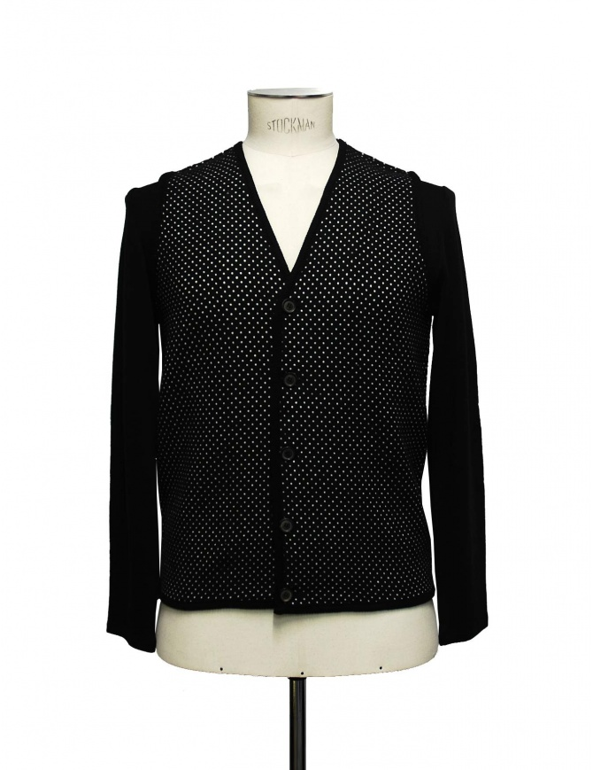 Cy Choi black and white polka dot cardigan CA37K04 ABK00 BLK mens cardigans online shopping