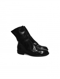Mens shoes online: Black leather Guidi 698 boots