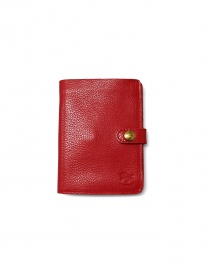 Red leather Il Bisonte wallet online