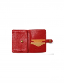 Red leather Il Bisonte wallet buy online