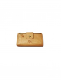 Natural leather wallet Il Bisonte online