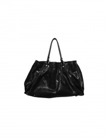 Delle Cose bright black leather bag online