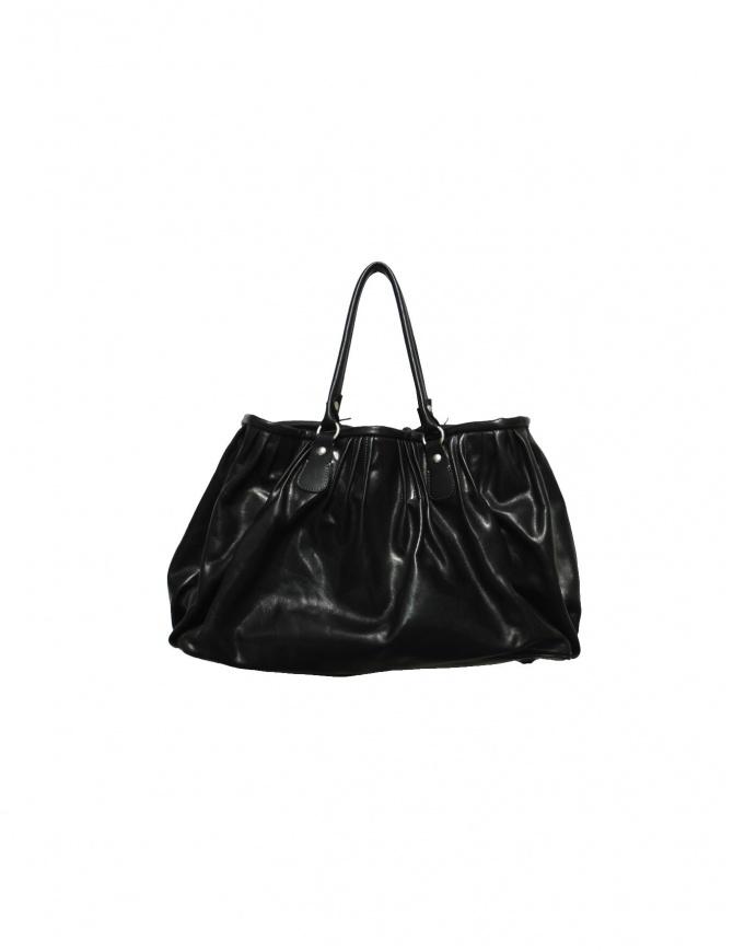 Borsa Delle Cose in pelle nera lucida 2189 VACCHET borse online shopping