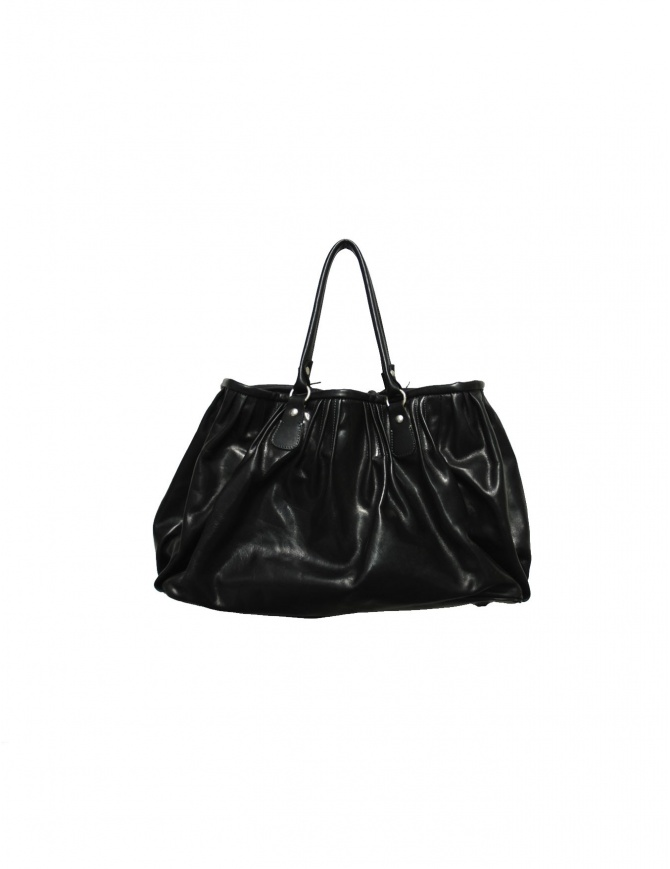Delle Cose bright black leather bag 2189 VACCHETTA LUCIDA bags online shopping