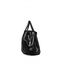 Delle Cose bright black leather bag