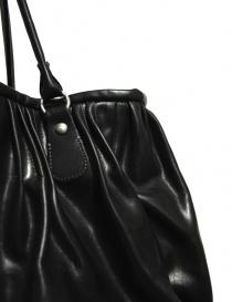 Delle Cose bright black leather bag price