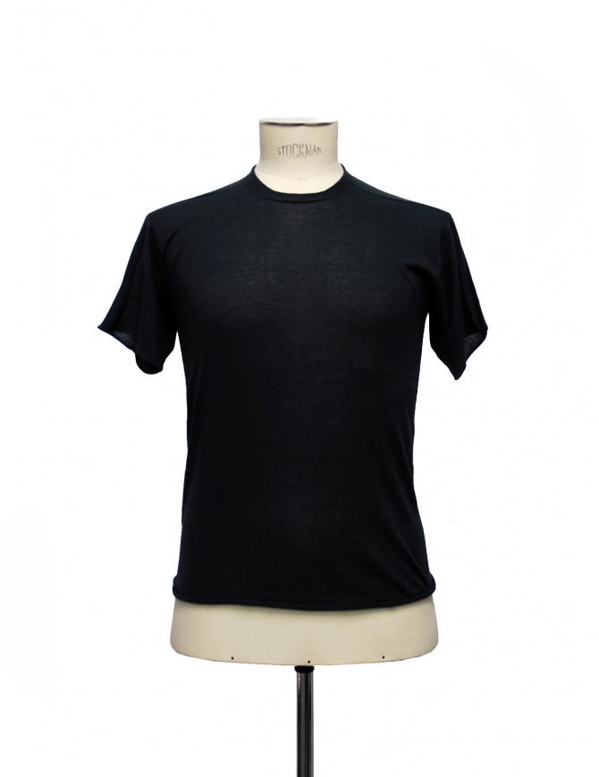 Label Under Construction Knitee black t-shirt 23YMTS208CO132 23/879 mens t shirts online shopping