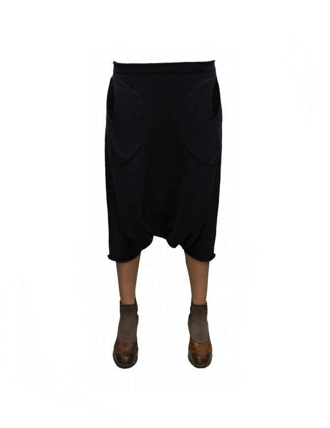 Label Under Construction Pocket Trapezium black skirt pants 23YXGM129SE- womens trousers online shopping