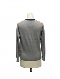 Cardigan Side Slope X Antipast colore grigio
