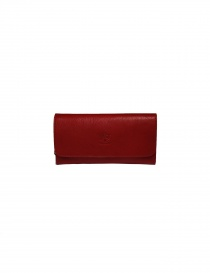 Il Bisonte long red wallet with zippers C0856..P 245 ROSSO order online