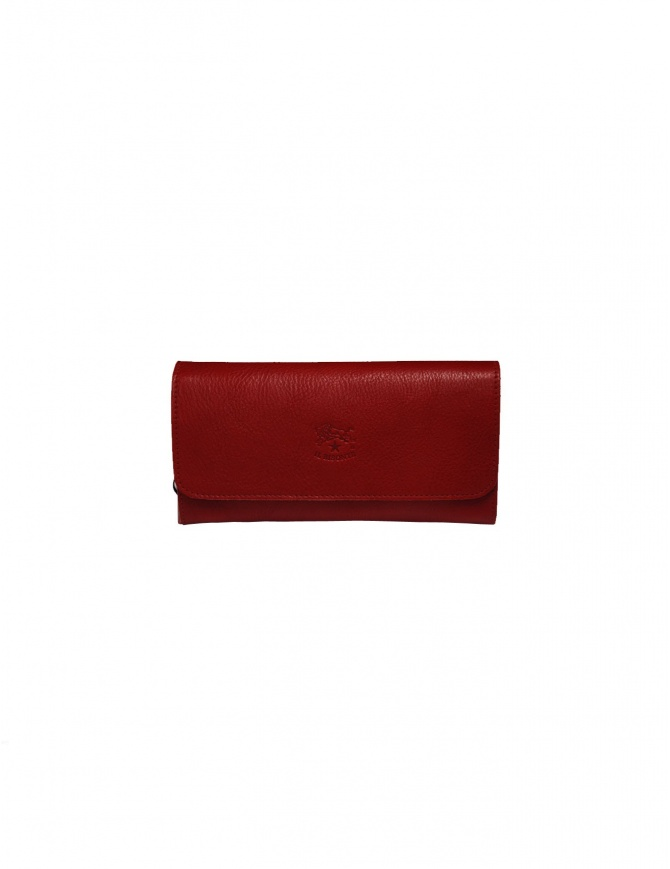 Il Bisonte long red wallet with zippers C0856..P 245 ROSSO wallets online shopping