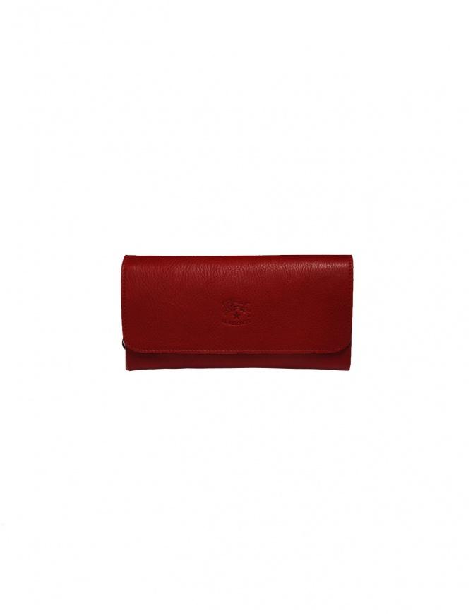 Portafoglio lungo Il Bisonte rosso con cerniere C0856..P 245 ROSSO portafogli online shopping